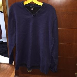 Blue cotton men's sweater by Kenneth Cole XL
